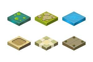 Platforms of different ground