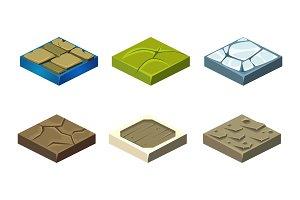Stone game platforms set, user