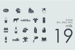 19 milk icons
