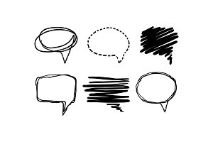 Speech bubble set, text balloons of