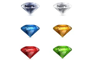 Gems vector icons