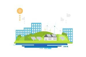 Eco friendly modern city