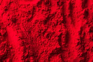 top view of red powder surface