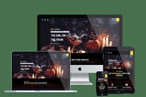AT Cinema Onepage Website Template