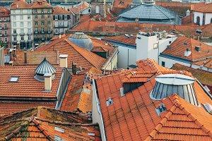 Porto cityscape historic downtown