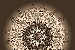 Abstract ornamental mandala