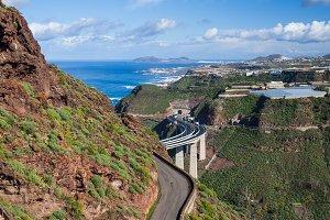 Road on Tenerife island landscape