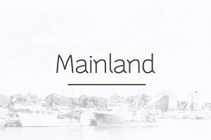 Mainland - 10 Style Sans Serif Font