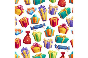 Gift boxes or presents pattern