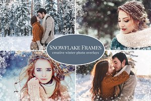 Snowflake Frames photo overlays