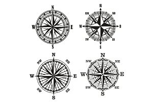 Compass vintage navigation element