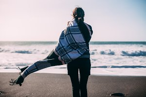woman enjoying ocean