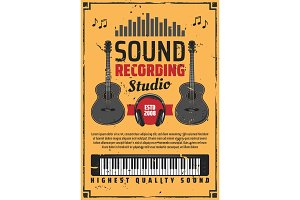 Sound recording studio and music