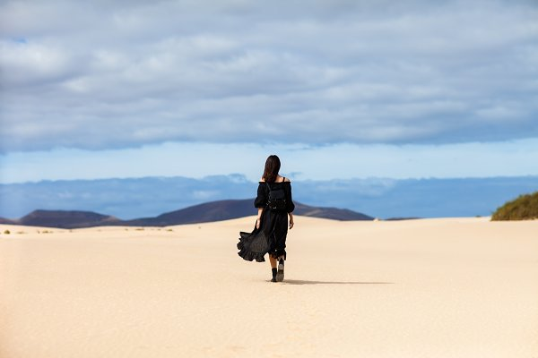 People Stock Photos: Gladkov photography - Full length portrait of lonely woman
