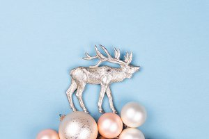 Reindeer and Christmas balls