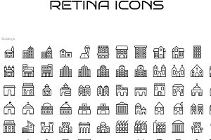 84 Building Icons for Retina Display
