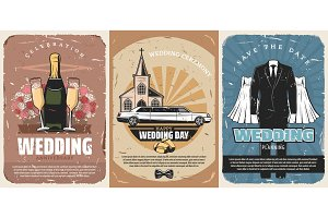 Marriage ceremony, wedding vector