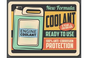 Engine coolant, car maintenance