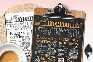 Pancakes and Waffles Restaurant Menu