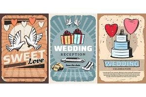 Wedding ceremony, gifts, car, cake