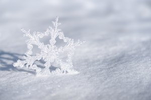 Christmas decoration snowflake