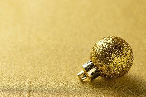 Golden glittering shining christmas