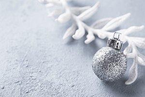 Silver glittering shining christmas