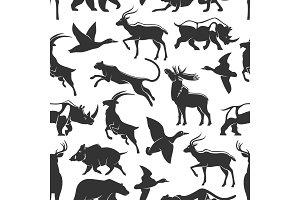 Wild animals hunting, pattern