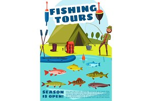 Fishing sport tours with camping