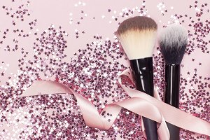 Different Cosmetic makeup brushes
