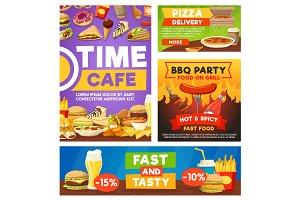 Fast food meals, restaurant menu