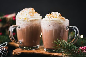 Christmas Hot Chocolate With Cream