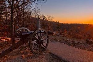 Gettysburg Sunset Cannon