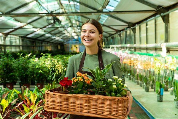 Image of brunette woman gardener 20…