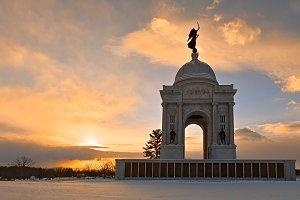 Winter Gettysburg Sunrise