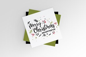 Christmas Greeting lettering design