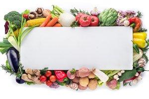 Different colorful vegetables arrang