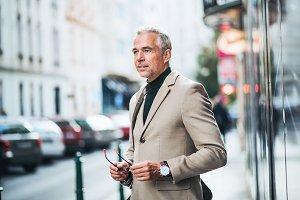 Mature businessman standing on a