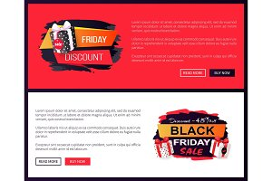 Black Friday Sale Off Promo Stickers