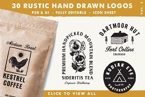 30 Rustic Hand Drawn Logos Vol 2