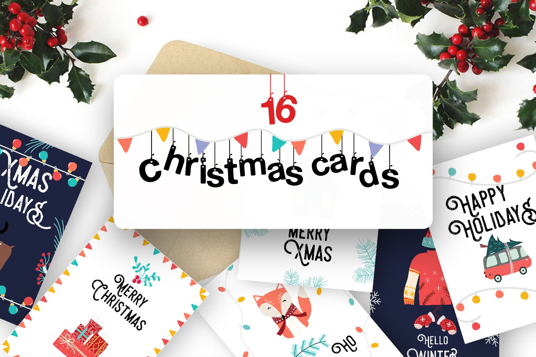 Cute Christmas Cards ~ Illustrations ~ Creative Market