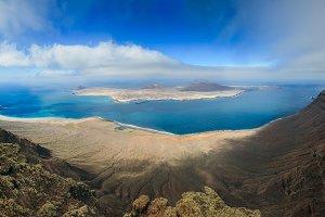 Panorama of La Graciosa Island