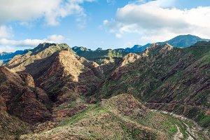 mountain range in Gran Canaria islan