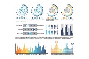Infographics and Pie Diagram with