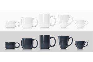 Ceramic mug for tea and coffee.