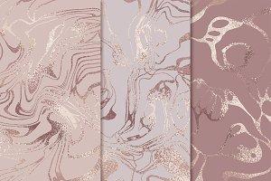 Rose marble set