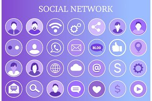 Social Network Share Icon Vector