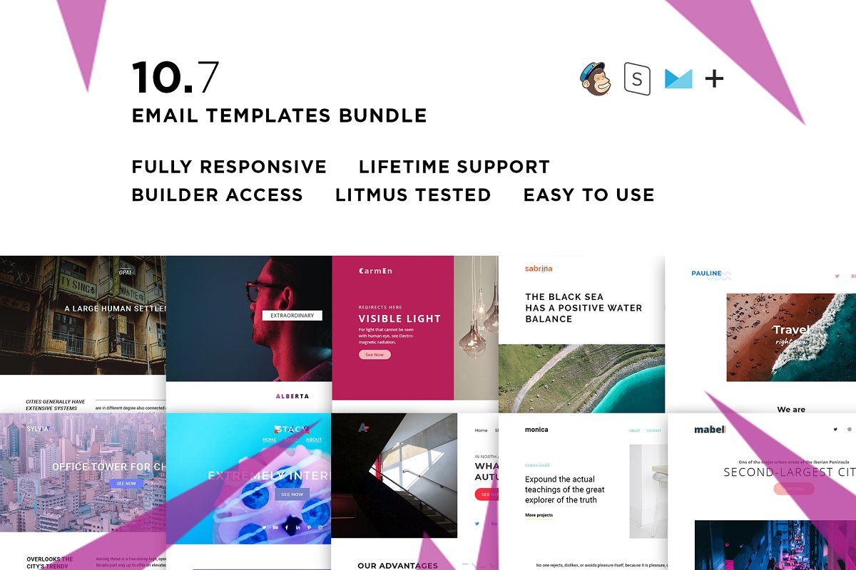 10 Email templates bundle VII