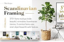 375+ Mockups ‒ Scandinavian Framing by  in Product Mockups