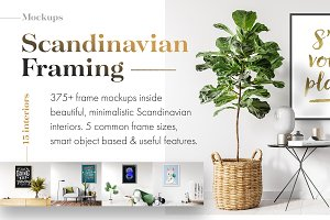 375+ Mockups ‒ Scandinavian Framing